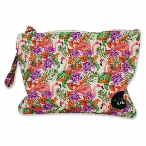 Small pouch Flamingo and Flower