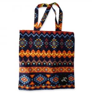 Eco Tote Bag Native Design (Dark Violet)