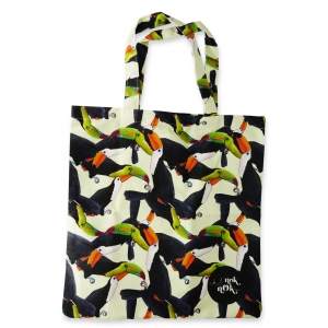 Eco Tote Bag Toucan Pattern (Yellow)
