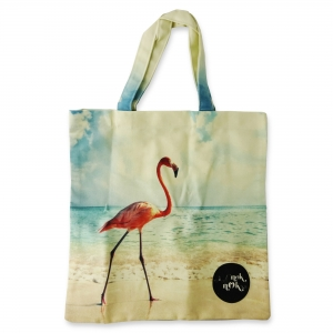 Eco Tote Bag One Flamingo