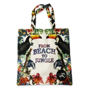 Eco Tote Bag From Beach To Jungle (Toucan)
