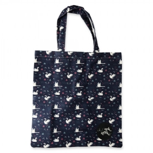 Eco Tote Bag Swan Pattern