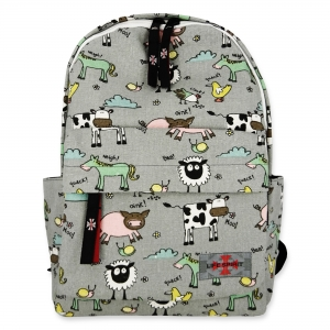 Life Spirit Backpack Chicken, Duck, Horse, Cow, Snail, and Pig
