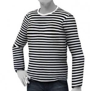 Konako Hawaiian Boat Shirt Long Sleeve Striped