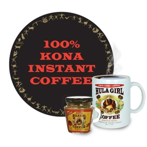 Hula Girl 100% Kona Freeze Dried Instant Coffee Jar with handle (40g)