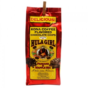 Hula Girl Kona Coffee and Chocolate Chip Pancake Mix