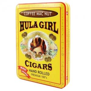 Coffee mac nut small cigar tin hulagirl store - Small tin girl ...