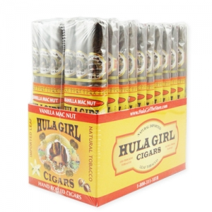 Hula Girl Vanilla Mac Nut Small Cigars 3-Pack Box of 20