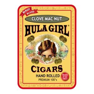 Hula Girl Clove Mac Nut Flavored Small Cigar Tin With 8 Mini Cigars