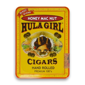 Hula Girl Honey Mac Nut Cigars in Tin