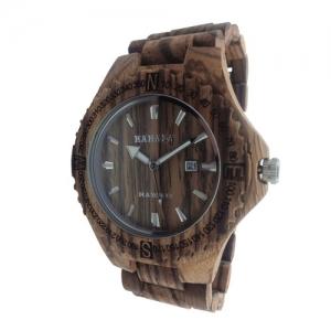 Handmade Wooden Watch Made with Zebra Wood - Kahala Brand 33