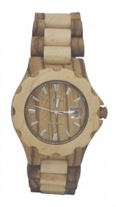 Handmade Wooden watch Made with Wallnut and Zebra Wood - Kahala Brand # 35