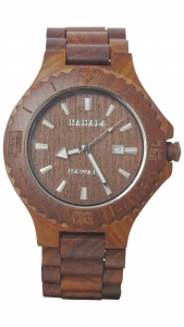 Handmade Wooden Watch Made with Red Sandalwood - Kahala Brand # 37