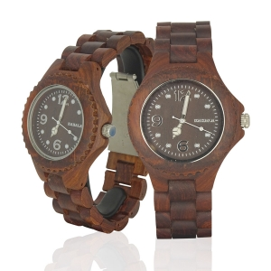 Handmade Wooden Watch Made with Red Sandalwood - Kahala Brand #51