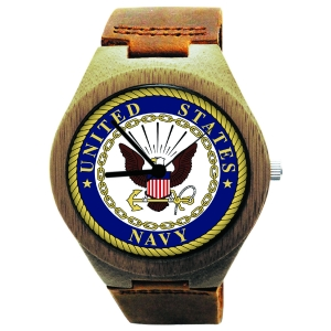 Wooden Watch Made with Natural Bamboo Wood with US Navy Seal