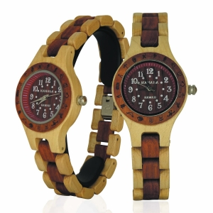 Handmade Wooden Watch Made with Maple and Red Sandalwood - Kahala Brand # 5