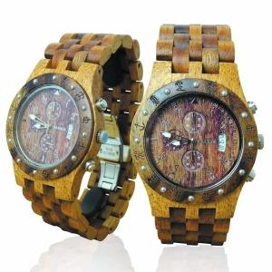 Handmade Wooden Watch Made with Hawaiian Mango and Hawaiian Koa Wood - Kahala Brand # 11-B