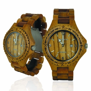 Handmade Wooden Watch Made with Acacia Koa Wood - Kahala # 1A
