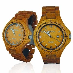 Handmade Wooden Watch Made with Acacia & Mango Wood - Kahala # 1M