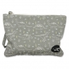 Small pouch Gray Dinosaur