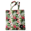 Eco Tote Bag Pink and White Hibiscus Flower (White)