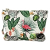 Small pouch Leaf and Flamingo