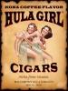 Hula Girl Cigar Poster Two Hula Dancing Girls with Mailing Tube