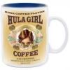 Hula Girl Mug with Coffee Logo Two Tone Blue 11oz