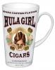 Hula Girl Latte Mug White with Cigar Logo 17oz