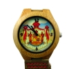 Handmade Kahala Wooden Watch Made With Natural Bamboo Wood with Hawaiian Coat Of Arms & Seal