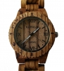 Handmade Wooden Watch Made with Zebra Wood - Kahala Brand # 8
