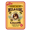 Hula Girl Coconut Mac Nut Small Cigar Tin with 8 Mini Cigars