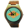 Handmade Wooden Watch Made with Natural Bamboo with State of Delaware Flag