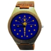 Wooden Watch Made with Natural Bamboo Wood with State of Indiana Flag