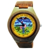 Handmade Wooden Watch Made with Natural Bamboo Wood with State of Iowa Seal