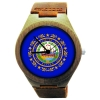 Handmade Wooden Watch Made with Natural Bamboo Wood with State of New Hampshire Flag