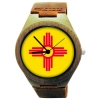 Wooden Watch Made with Natural Bamboo Wood with State of New Mexico on the face