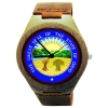 Kahala Wooden Watch Made with Natural Bamboo with State of Ohio Seal