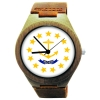 Kahala Wooden Watch Made with State of Rhode Island Flag
