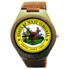 Handmade Wooden Watch Made with Natural Bamboo Wood with State of West Virginia Seal