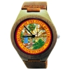 Kahala Wooden Watch Made with Natural Bamboo Wood with State of Florida Seal