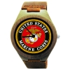 Kahala Wooden Watch With US Marine Corps Seal