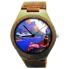 Kahala Wooden Watch Made With Natural Bamboo Wood with Hawaiian Artwork