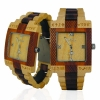 Handmade Wooden Watch Made with Maple and Acacia Koa Wood - Kahala Brand # 3