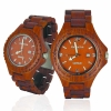 Handmade Wooden Watch Made with Red Sandalwood - Kahala Brand # 1RS