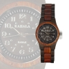 Kahala Wooden Watch made with Red and Black Sandalwood with Black Face