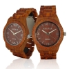 Handmade Wooden Watch Made with Red Sandalwood