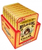 Hula Girl Coconut Mac Nut Small Cigar Box of 7 Tins with 8 Mini Cigars Each