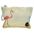 Small pouch Flamingo in Sea