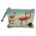 Small pouch Three Flamingos